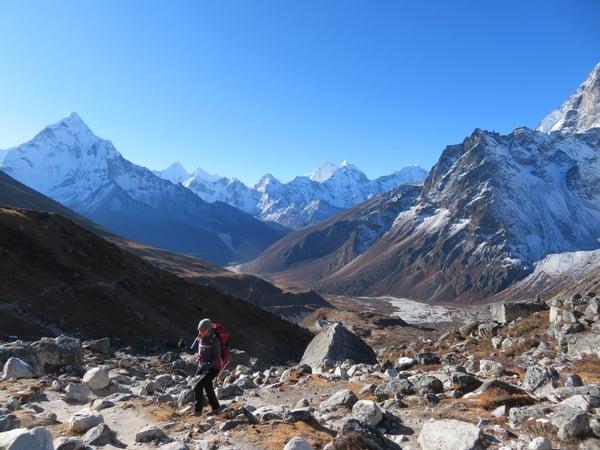 Joanna Trekking the Himalayas
