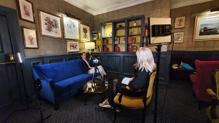 Molly interviewing Ryan Tubridy for The Late Late Show social. Credit - Bren Murphy.